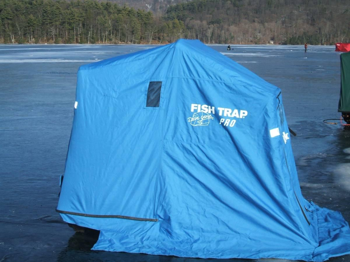 Clam fishtrap pro ice shanty for sale price reduced for Clam ice fishing shelters