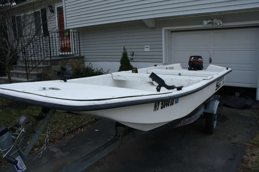 Magnificent Carolina Skiff J14 W 2004 Mercury 15 And Trailer Free Onthecornerstone Fun Painted Chair Ideas Images Onthecornerstoneorg