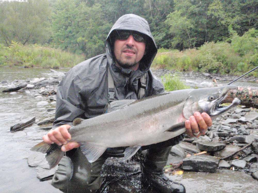 Pulaski ny slammer salmon trip with pics 9 18 9 19 for Best time for salmon fishing in pulaski ny