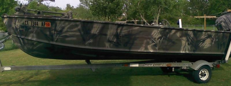 Reduced duck hunting fishing boat w 18hp merc and for Buy bass boat without motor