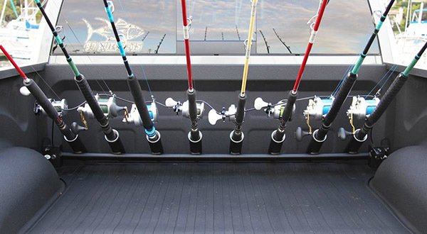 Any creative in vehicle rod storage out there boats for Fishing rod rack for truck